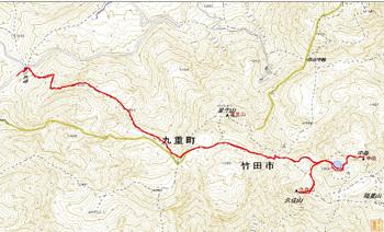 九重山登山GPSトラック軌跡(2013-6-3).jpg