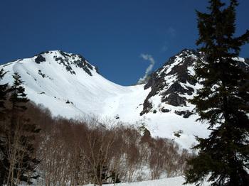 標高2000m付近から焼岳、噴煙は北溶岩ドーム.jpg