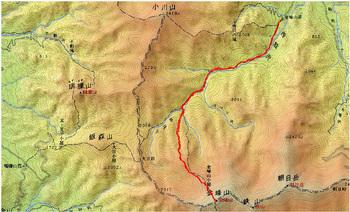 金峰山登山トラック軌跡(2013-11-1).jpg
